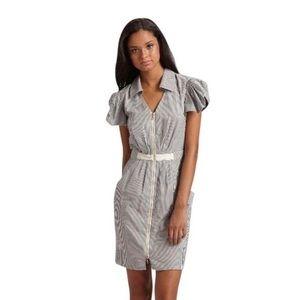 Leifsdottir Blue Joseph Stripe Zip-front Dress